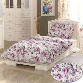Kvalitex Bavlnené obliečky Daniela fialová PROVENCE, 140 x 220 cm, 70 x 90 cm