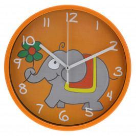 Nástenné hodiny Elephant oranžová, 23 cm