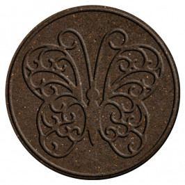 Benco Gumový nášľap na záhradu Motýľ, hnedá