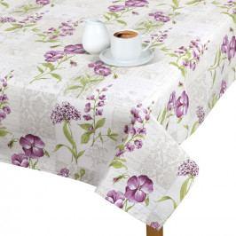 Bellatex Obrus Ema Kvety fialové, 100 x 100 cm, 100 x 100 cm
