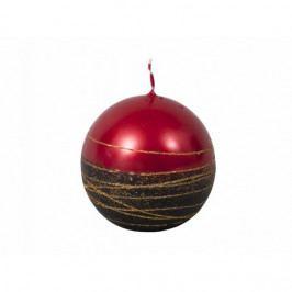 Vianočná sviečka Lumina Gold guľa, červená