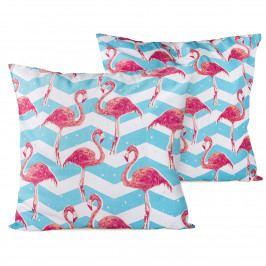 4home Obliečka na vankúšik Flamingo, 2x 40 x 40 cm, 40 x 40 cm