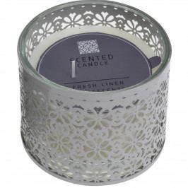 Dekoratívna sviečka Scente, biela