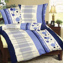 Bellatex Bavlnené obliečky Mriežka modrá, 240 x 220 cm, 2 ks 70 x 90 cm