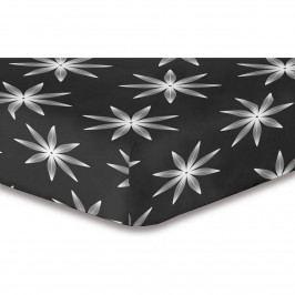 DecoKing Prestieradlo Alpin S2 mikrovlákno, čierna, 180 x 200 cm