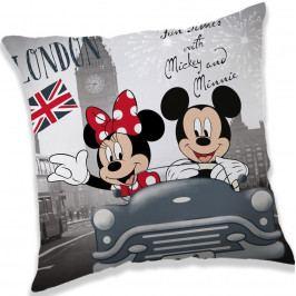 Jerry Fabrics Vankúšik Mickey and Minnie London, 40 x 40 cm