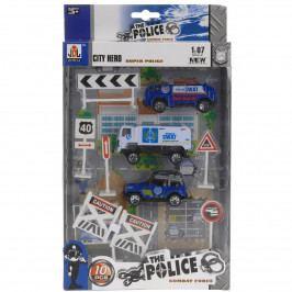 Detský hrací set Polícia, 10 ks
