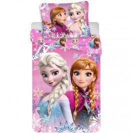 Jerry Fabrics Bavlnené obliečky Ľadové kráľovstvo Frozen sisters 02, 140 x 200 cm, 70 x 90 cm