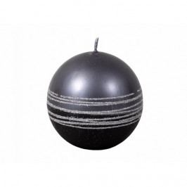 Vianočná sviečka Lumina Silver guľa, čierna