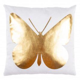 JAHU Vankúšik Gold De Lux Motýľ, 43 x 43 cm
