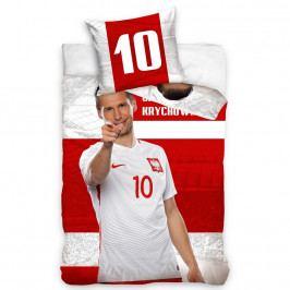 TipTrade Bavlnené obliečky Polska Krychowiak Stripe, 160 x 200 cm, 70 x 80 cm