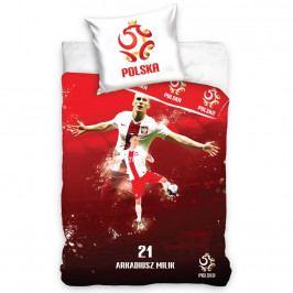 TipTrade Bavlnené obliečky Polska Milik Red, 160 x 200 cm, 70 x 80 cm