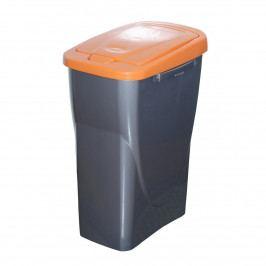 Kôš na triedený odpad 61,5 x 42 x 25 cm, oranžové veko, 40 l