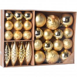 Sada vianočných ozdôb Terme zlatá, 31 ks