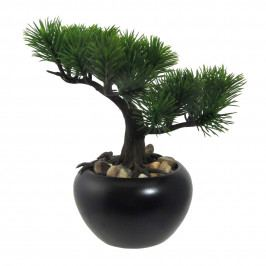 Umelý bonsaj Borovica v kvetináči zelená, 19 cm