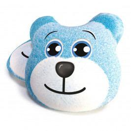 TipTrade Tvarovaný vankúšik Medveď modrá, 40 cm