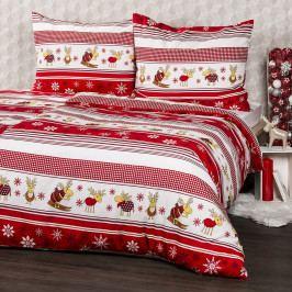 4home Flanelové obliečky Sobíky, 160 x 200 cm, 70 x 80 cm, 160 x 200 cm, 70 x 80 cm