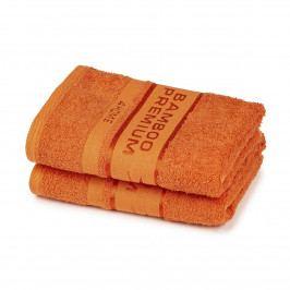 4Home Bamboo Premium uterák oranžová, 50 x 100 cm, sada 2 ks