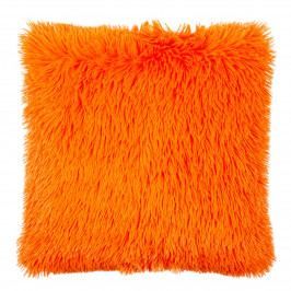 JAHU Obliečka na vankúšik Chlpáč Peluto Uni oranžová, 40 x 40 cm
