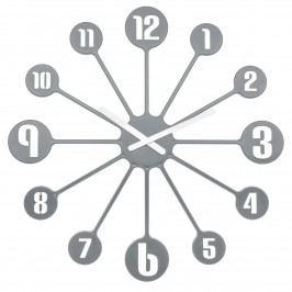 Koziol Nástenné hodiny Pinball sivá, pr. 45 cm