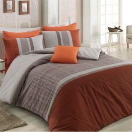 BedTex Bavlnené obliečky Spencer hnedá, 140 x 220 cm, 70 x 90 cm