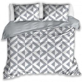 TipTrade Bavlnené obliečky CikCak sivá, 140 x 200 cm, 70 x 90 cm