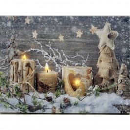 LED Obraz na plátne Padá sneh, 40 x 30 cm