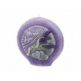 Dekoratívna okrúhla svíčka Lavender Kiss