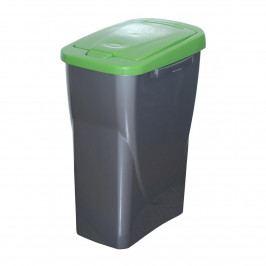 Kôš na triedený odpad 51 x 21,5 x 36 cm, zelené veko, 25 l