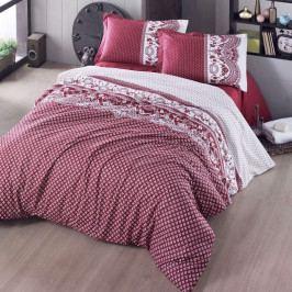 Kvalitex Bavlnené obliečky Canzone červená, 240 x 200 cm, 2 ks 70 x 90 cm