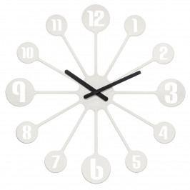 Koziol Nástenné hodiny Pinball biela, pr. 45 cm