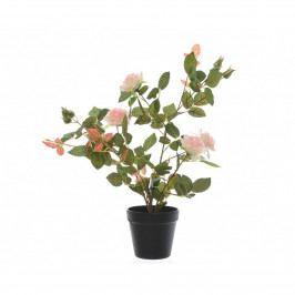 Umelý Ružový ker v kvetináči ružová, 50 cm