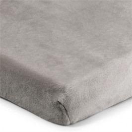 4Home prestieradlo mikroflanel sivá, 90 x 200 cm, 90 x 200 cm
