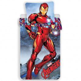 Jerry Fabrics Detské bavlnené obliečky Iron Man, 140 x 200 cm, 70 x 90 cm