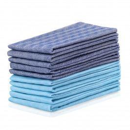 DecoKing Kuchynská utierka Louie modrá, tyrkysová, 50 x 70 cm, sada 10 ks