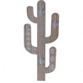 Koopman Drevený háčik Cactus Shape, biela