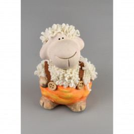 Keramická ovečka Kudrnka, 10,5 cm