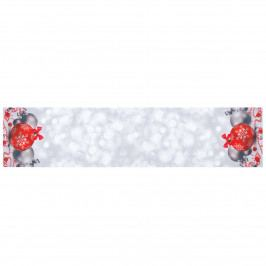 Forbyt Vianočný obrus Vianočné ozdoby, 35 x 160 cm, 35 x 160 cm