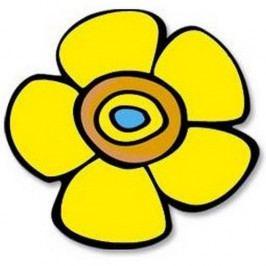 Bellatex Kuchynská podložka Kvetina žltá 10 cm