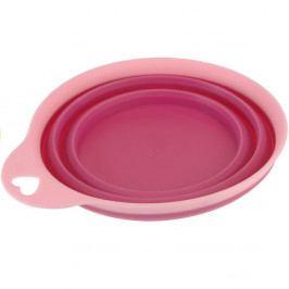 Skladacia silikónová miska Colours, ružová,