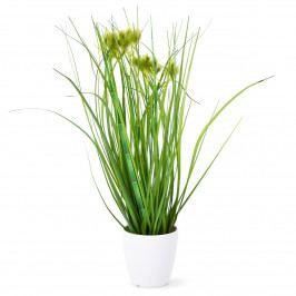 Umelá kvitnúca tráva Otilie zelená, 36 cm