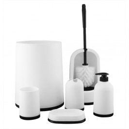 Kúpeľňový a wc set biela, 7 ks