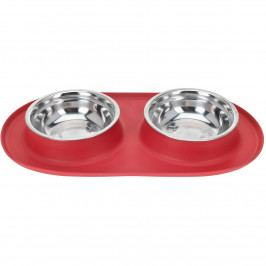 Dvojitá miska pre psa Bowl, červená