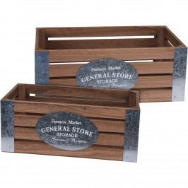 Koopman Sada dekoračných úložných boxov Farmers Market, 2 ks