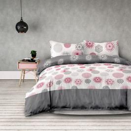AmeliaHome Flanelové obliečky Flakes, 160 x 200 cm, 2 ks 70 x 80 cm