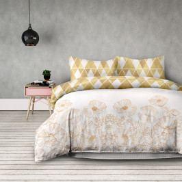 AmeliaHome Flanelové obliečky Golden poopy, 200 x 220 cm, 2 ks 70 x 90 cm