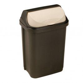 Keeeper Odpadkový koš se zasouvacím víkem rasmus, tmavě šedý 10L