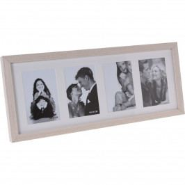 Fotorámček Memories na 4 fotografie hnedá, 52 x 22 x 3,5 cm