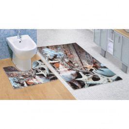 Bellatex Kúpeľňová predložka Morské lastúry 3D, 60 x 100 + 60 x 50 cm