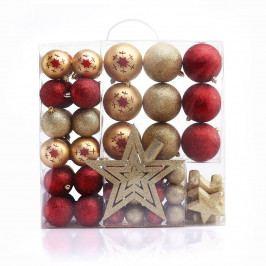 DecoKing Sada vianočných ozdôb Susi zlatá, 76 ks